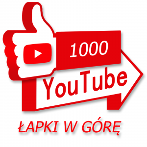 1000 łapek do góry pod filmem na Youtube